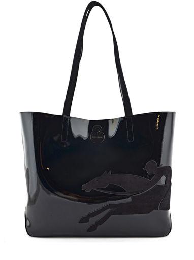 Longchamp Sac porté main Noir