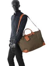 Longchamp Boxford Sacs de voyage Bleu-vue-porte