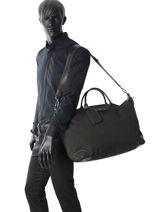Longchamp Boxford Sac de voyage Noir-vue-porte