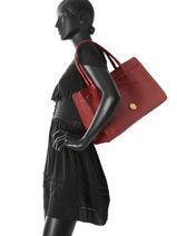 Sac Cabas Fashion Cuir La pomme de loveley Rouge fashion LPF17-81-vue-porte