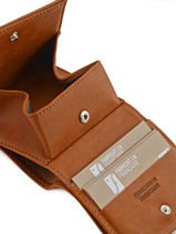 Purse Leather Foures Brown 9147-vue-porte