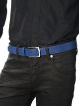Belt Adjustable Petit prix cuir Blue sport 861T-vue-porte