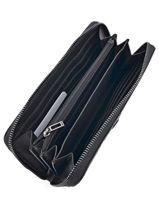 Wallet Guess Black kamryn BM669146-vue-porte
