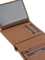Wallet Leather Azzaro Brown trigger AZ908409-vue-porte
