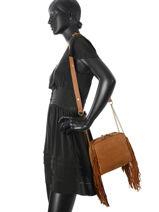 Crossbody Bag Vintage Leather Nat et nin Brown vintage GIULIA-vue-porte