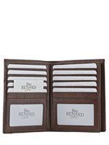 Wallet Leather Yves renard Brown bovino 70425-vue-porte