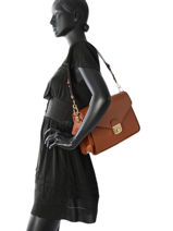 Longchamp Mademoiselle longchamp Besaces Marron-vue-porte