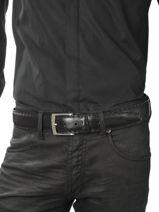 Ceinture Ajustable Petit prix cuir Noir sport 3841T-vue-porte