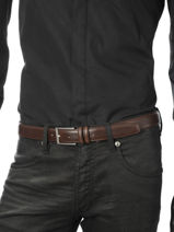 Belt Adjustable Petit prix cuir Brown sport 1080T-vue-porte