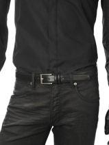 Belt Adjustable Petit prix cuir Black sport 1080T-vue-porte