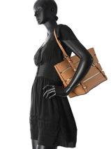 Shoulder Bag A4 Exie Guess Beige exie TG686023-vue-porte