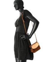 Crossbody Bag Evening Leather Burkely Brown evening 532625-vue-porte