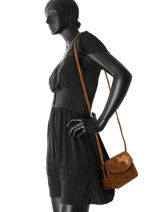 Crossbody Bag Evening Leather Burkely Brown evening 532825-vue-porte