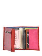 Wallet Leather Etrier Red tricolor 110150-vue-porte