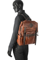 Backpack Chiarugi Brown street 54010-vue-porte