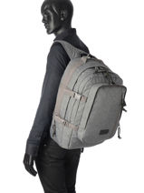 Backpack 3 Compartments Eastpak Gray pbg core series PBGK207-vue-porte
