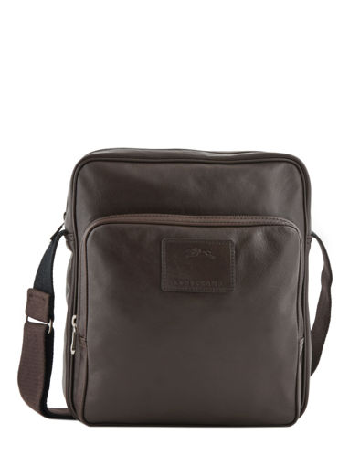 Longchamp Baxi cuir Besaces Marron