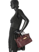 Sac Trapeze Swagger 27 Cuir Coach Rouge swagger 87295-vue-porte
