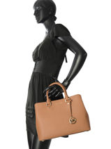 Top Handle Savannah Leather Michael kors Brown savannah S6GS7S3L-vue-porte