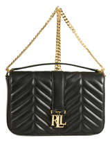 Sac Bandoulière Carrington Cuir Lauren ralph lauren Noir carrington 31678990