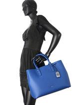Sac Cabas Dryden Cuir Lauren ralph lauren Bleu dryden 31644256-vue-porte