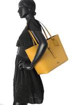 Shoulder Bag Market Tote Leather Coach Yellow tote 58849-vue-porte