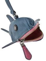 Porte Monnaie Sharky Cuir Coach Bleu cases 21097-vue-porte