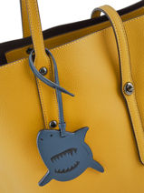 Bijoux De Sac Sharky Coach Blue bag charms 21518-vue-porte