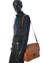 Longchamp Longchamp 3d Briefcase Brown-vue-porte