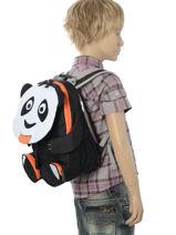 Backpack Affenzahn Black large friends AFZ-FAL2-vue-porte