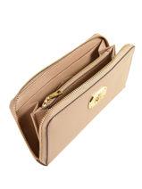 Wallet Leather Lauren ralph lauren Beige new bury 32600074-vue-porte
