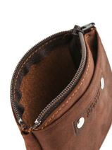 Purse Leather Foures Brown - 00009104-vue-porte
