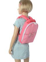 Backpack Ralphie Jeune premier Pink canvas RA018-vue-porte