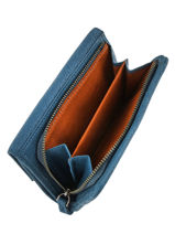 Wallet Leather Nat et nin Blue vintage LOTTIPBG-vue-porte