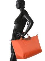 Longchamp Travel bag Orange-vue-porte