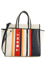 Cabas Th Heritage Tote Tommy hilfiger Bleu th heritage tote AW04843