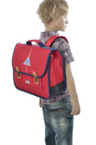 Satchel 2 Compartments Poids plume Red be classe POL12357-vue-porte