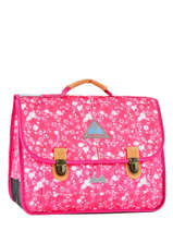 Satchel 2 Compartments With Free Pencil Case Poids plume Pink be all over color PCO15387