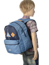 Backpack 2 Compartments Poids plume Blue be light PLI17537-vue-porte