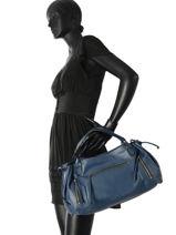 Sac Shopping 24h Gd Cuir Gerard darel Bleu gd DFS03410-vue-porte