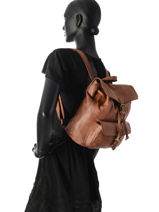 Backpack Basilic pepper Brown cow BCOW06-vue-porte