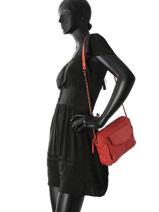 Sac Bandoulière Naina Cuir Pieces Rouge naina 17087872-vue-porte