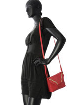 Shoulder Bag Imsa Leather Pieces Red imsa 17087077-vue-porte