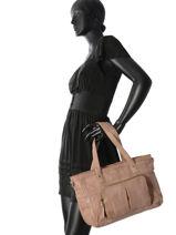 Sac Shopping Inda Cuir Pieces Marron inda 17087082-vue-porte