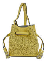 Crossbody Bag Kyo Fantaisie Leather Etrier Yellow kyo fantaisie EKY605PF