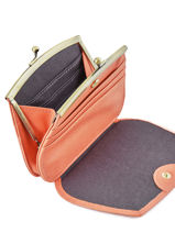 Purse Leather Nat et nin Pink vintage HOPE-vue-porte