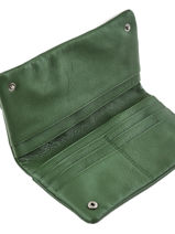 Purse Leather Nat et nin Green vintage LILI-vue-porte