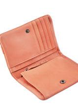 Wallet Leather Nat et nin Pink vintage LILOU-vue-porte
