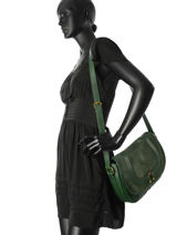 Crossbody Bag Nat et nin Green vintage CLAUDIA-vue-porte