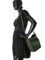 Sac Bourse Vintage Cuir Nat et nin Vert vintage SIXTINE-vue-porte